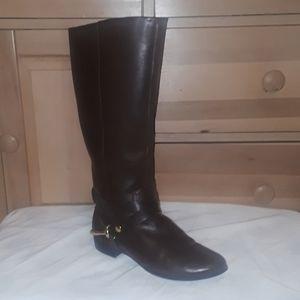 Dark brown fashion riding boots